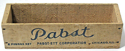 Vintage 2 LB Wood PABST-ETT American Pasteurized Process Cheese Box Chicago, IL