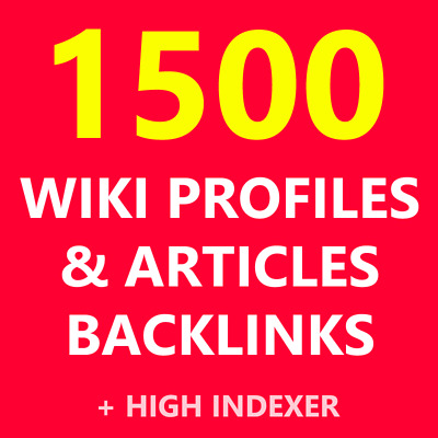 Wiki Profiles Articles Backlinks Your Seo High Top Google Authority Verified Pr