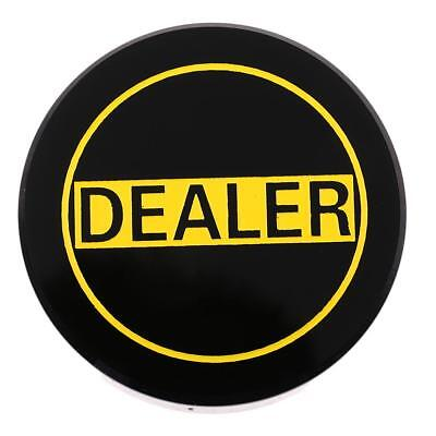Acrylic Black Dealer Button for Party Casino Club Board Game Accessory