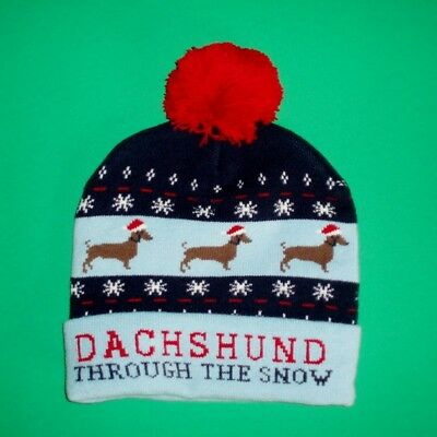 Dachshund Through the Snow Winter Hat