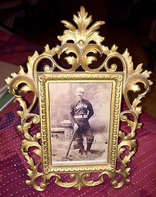 """""""King"""" Kelly-early Baseball-great repro Cabinet Card photo, antique style frame"""
