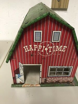 Vintage 50's MARX Sears Happy Time Farm Barn W/ silo missing Animals rare