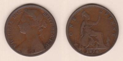 Great Britain One Penny 1876-H ---  Gbam