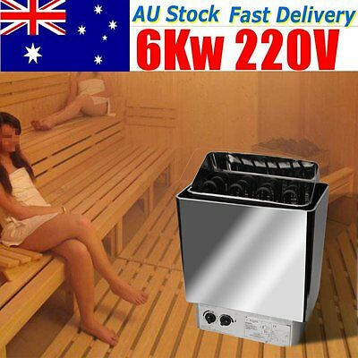 6KW Sauna Heater Stove Kit Internal Control Stainless Steel For Bath Shower SPA
