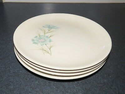 Taylor Smith & Taylor Boutonniere Set of 4 Dinner Plates 10""