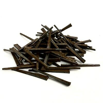 "85 2.5"" Long Antique Square Cut Wrought Iron Nails From The 1800's 2 1/2 Inch"