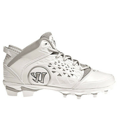 NEW Warrior Adonis Men's Lacrosse Cleats White Adoniswt Size 14 D