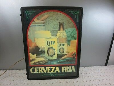 Miller Lite Cerveza Fria Lighted beer sign