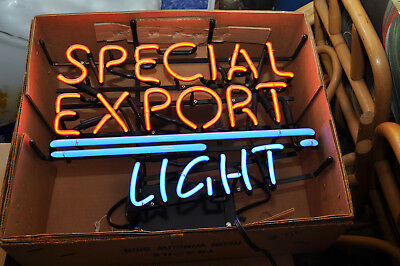 Vintage Special Export Light Neon Sign Box
