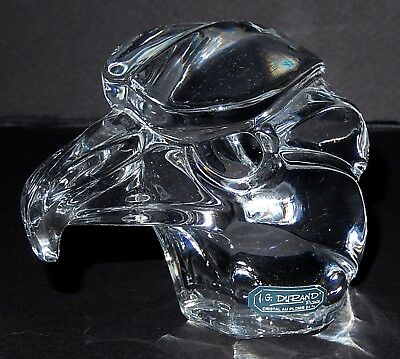 Clear Glass Eagle Paperweight by JG Durand Signed