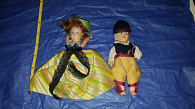 "Antique Adorable PAIR of Celluloid 6"" dolls"