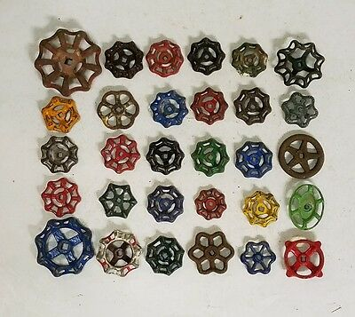 30C Colorful Beautiful Water Faucet Knob Valves Handle Steampunk Industrial Art