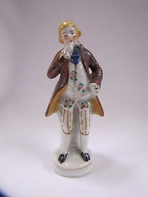 Antique Victorian Man Figurine Porcelain Small Occupied Japan 1940s