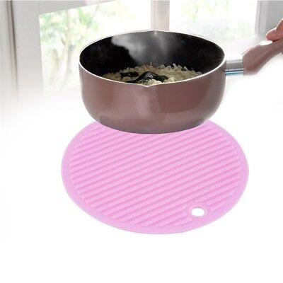 1pc Round Silicone Pot Holder Insulation Over Opener Heat Resistant Mat FK