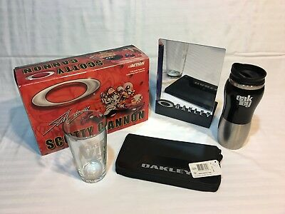 Lot Misc Oakley Display Stuff Car Glass Metal Mug Travel Wallet Passport Bag