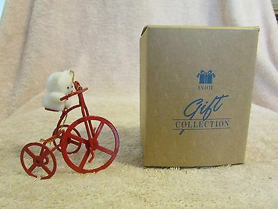 Avon Gift Collection Teddy Bear Ornament Collection Teddy On Trike Mib