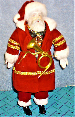 Very Nice ... Vintage Santa Claus doll - with porcelain face - St. Nicholas