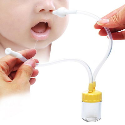 Baby Safe Nose Cleaner Vacuum Suction Nasal Mucus Runny Aspirator Inhale FK