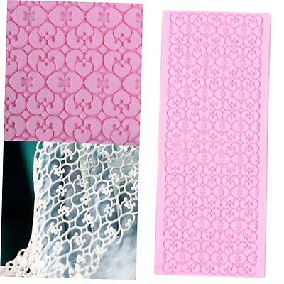 Silicone Lace Fondant Embossed Mold Sugar Cake Decorating Mould Tool OZF