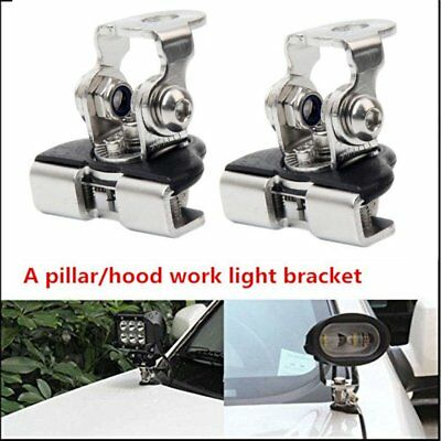 2x Universal Car Light Mount Bracket Clamp Holder Led Work Light Bar for SUV FU