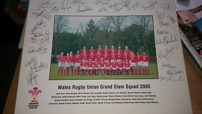 Wales Rugby Union 2005 Grand Slam Squad Signed Canvas Print