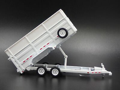 DUMP TRAILER RUBBER TIRES with WORKING DUMP 1:64 LIMITED  DIORAMA DIECAST MODEL