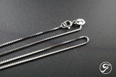 """925 Sterling Silver Box Chain Necklace Jewelry .8Mm Italy Thin New 24"""""""