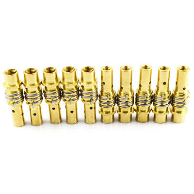 New Full Copper Contact Tips Holder Adaptor For MB 15AK Mig Welding Torch 10pcs