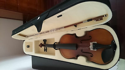 Student Acoustic Violin Full 3/4 Maple Spruce with Case Bow Rosin Color Classic