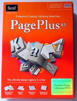Serif Page Plus X5 Desktop Publishing Software New Windows 7, Vista, Xp Boxed