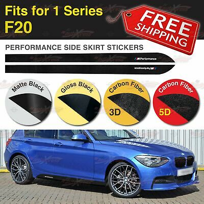M Performance Side Skirt Sill Vinyl Decal Stickers for BMW F20 1 Series 2 Pieces