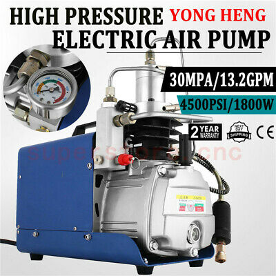 High Pressure Electric Air Pump 110V 30Mpa PCP Compressor Scuba Diving 2-Stage