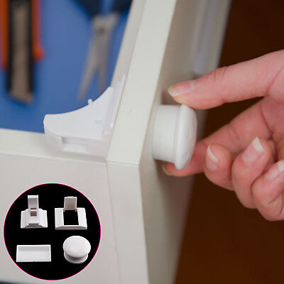 Invisible Magnetic Baby Child Pet Proof Cupboard Door Drawer Safety Lock【UK】