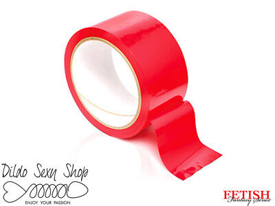 Nastro Costrittivo Fatish BDSM Sadomaso Fantasy Series Pleasure Tape Rosso