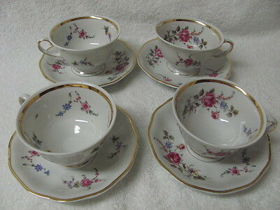 4 Favolina cups and saucers made in Poland