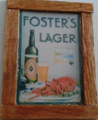 Dolls House Fosters Beer pub Advert