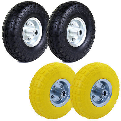 """10"""" Sack Truck Tyres Trolley Wheel Barrow Replacement Puncture Proof/inflatable"""