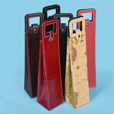 Vintage Chic PU Leather Single Wine Box Portable Luxury Carriers Gifts for Visit