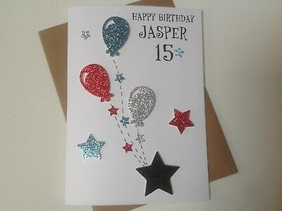 Handmade Personalised Birthday Card Teenager 13th14th15th16th17th