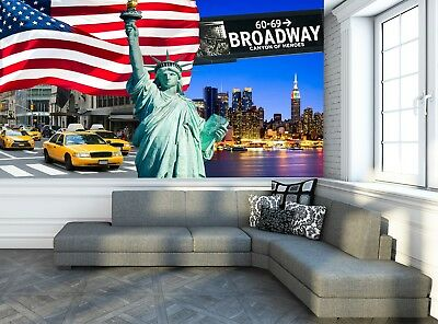 New York City Collage Photo Wallpaper Wall Mural Decor Paper
