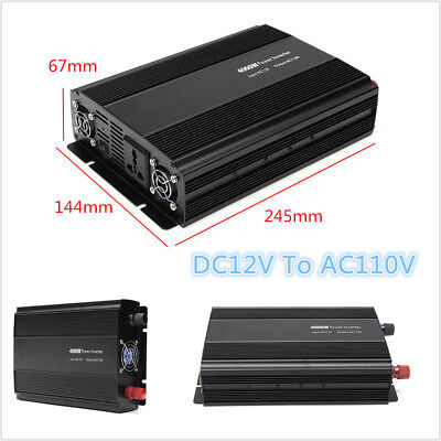 Autos 4000W 8000W Peak Modified Sine Wave Power Inverter DC12V To AC110V Charger