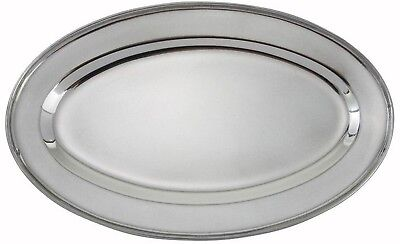 EXTRA LARGE Oval Stainless Steel Serving Tray. Massive 50cm Serving Platter