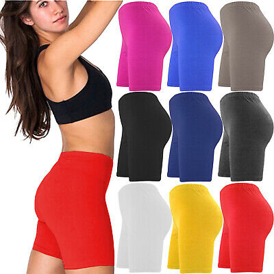 Ladies Womens Cycling Shorts Dancing Zumba Lycra Leggings Active Casual Short