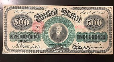 Reproduction 1863 $500 United States Note Albert Gallatin USA Currency Copy