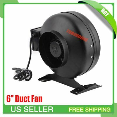 6 inch Inline Duct Fan Hydroponics Exhaust Blower Air Fresh Move Cooling VP