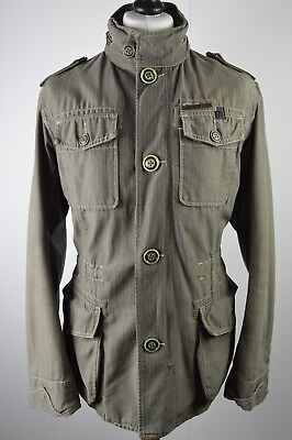 SUPERB men's Diesel dark brown military style winter weight coat large oasis