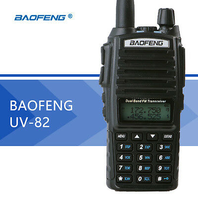 Baofeng UV-82 136-174/400-520MHz Ham Two way Radio Walkie Talkie US  EU UK Plug