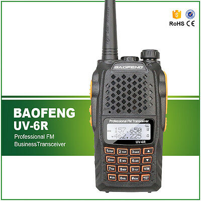 2017 Baofeng UV-6R VHF/UH 136-174/400-520MHz Dual Brand Two Way Ham Radio EU US