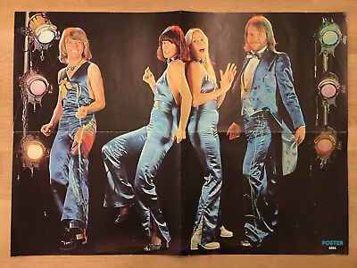 ABBA 1976 Ritchie Blackmore - Sweden Swedish Poster Magazine 1970s