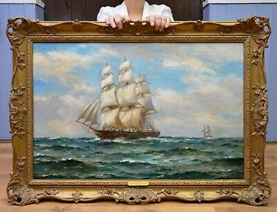 Large Fine Original Seascape Oil Painting by Roosevelt's Favourite Artist